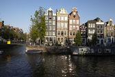 Amsterdam, hollanda - eski evleri — Stok fotoğraf
