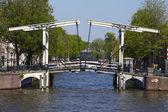 Amsterdam, Netherlands - Drawbridge — Stock Photo