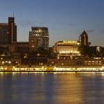 Hamburg (Germany) - Gangplanks at sunset — Stock Photo #29707935
