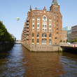 Hamburg - Fleet castle in the warehouse district — Stock Photo