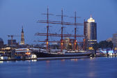 Hamburg (Germany) - Hafencity at the blue hour — Stock Photo