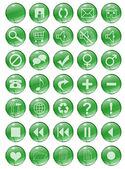 Bottoni verdi — Foto Stock