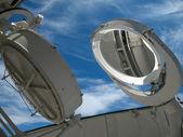 在天文台的太阳望远镜 — 图库照片