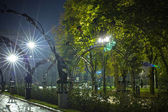 Park of forged figures in Donetsk, Ukraine — Stock Photo