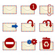 E-mail icon set 1 — Stock Photo