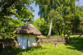 Fance and small hut — Stock Photo