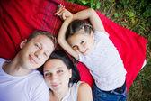 Famiglia sorridente — Foto Stock