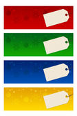 Four christmas banners — Stock Photo