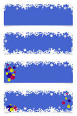 čtyři modré vánoce hlavičky — Stock fotografie