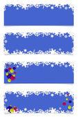 Four blue christmas headers — Stock Photo