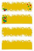 Four yellow christmas headers — Stock Photo