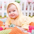 Stock Photo: Cute little baby on blanket