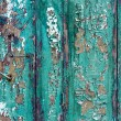 Stock Photo: Green cracky grunge door