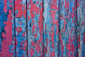 Wood cracky blue-red grunge texture — Stock Photo