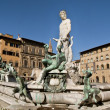 Neptune Fountain in Florence — Foto de Stock