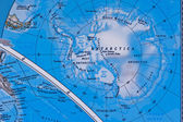 Antarctica on the Map — Stock Photo
