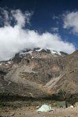Mt. kilimanjaro the highest peak in africa — Stock Photo