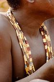 Hand work of beads jewellery — Stock Photo