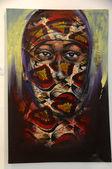 Tinga tinga painting in Tanzania — Stock Photo