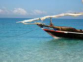 Fishermen dhows found around Tanzania — Stock Photo