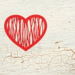 Foto Stock: Red paper heart