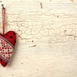 Valentines heart on a old wooden door — Stock Photo