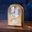 Expensive table golden clock — Photo