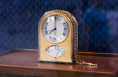 Expensive table golden clock — Stock Photo