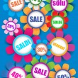 Sale and discounts, multicolor vector set of icons — Imagen vectorial