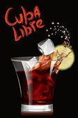 Cuba Libre cocktail. Vector illustration. — Stock Vector