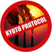 Kyoto protocol, stop gas. — Stock Vector