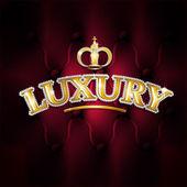 Vector illustration of gold text luxury diamonds — Stock Vector