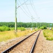 Railroad track into distance — Stock Photo