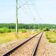 Stock Photo: Railroad track into distance