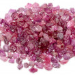 Rough uncut red ruby — Stockfoto