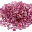 Stock Photo: Rough uncut red ruby