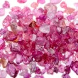 Rough uncut red ruby — Stock Photo