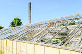 Exterior of broken greenhouse — Stock Photo