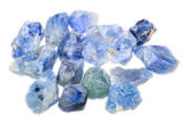 Blue rough natural sapphire — Stock Photo