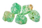 Green fluorite gemstone — Stock Photo