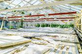 Interior of broken greenhouse — Stock Photo