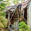 Stock Photo: Old broken down house