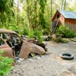 Stock Photo: Old car cemetery