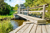 Old walkway bridge — Stock Photo