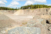 Stone and gravel quarry — Stock Photo
