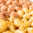 Smoked almond and cashew — Stock Photo