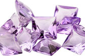 Amethyst princess cut — Foto Stock