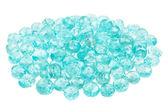 Pile of blue Apatite beads — Stock Photo