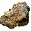 Bornite and Brochantite mineral sample — Stock fotografie