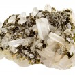 Stock Photo: Quartz crystals on host rock